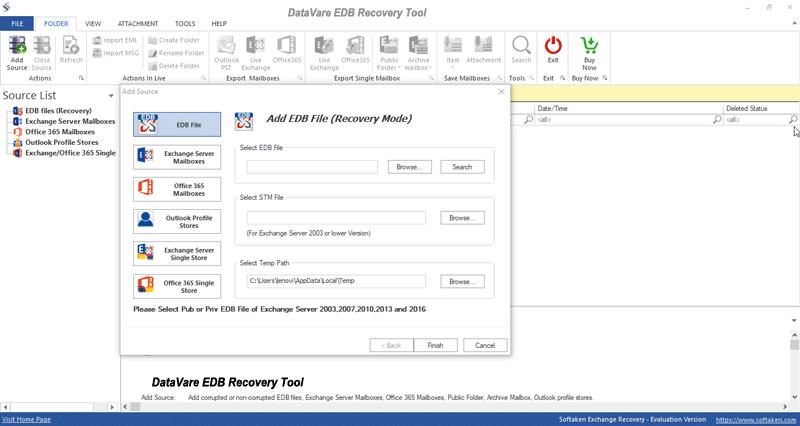 Windows 7 Datavare EDB Recovery Tool 1.0 full