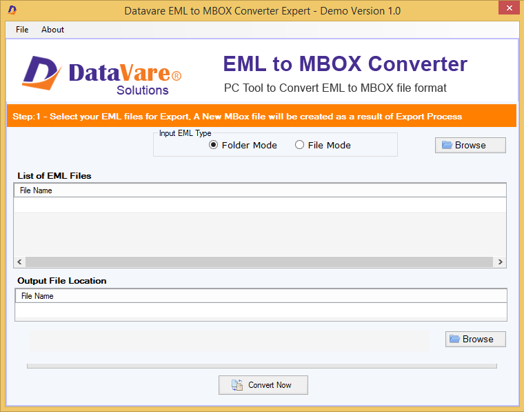 DataVare EML to MBOX Converter Expert Screen shot
