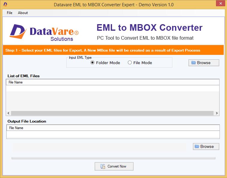 DataVare EML to MBOX Converter Expert