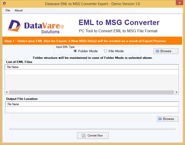DataVare EML to MSG Converter Expert