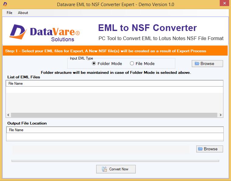 DataVare EML to NSF Converter