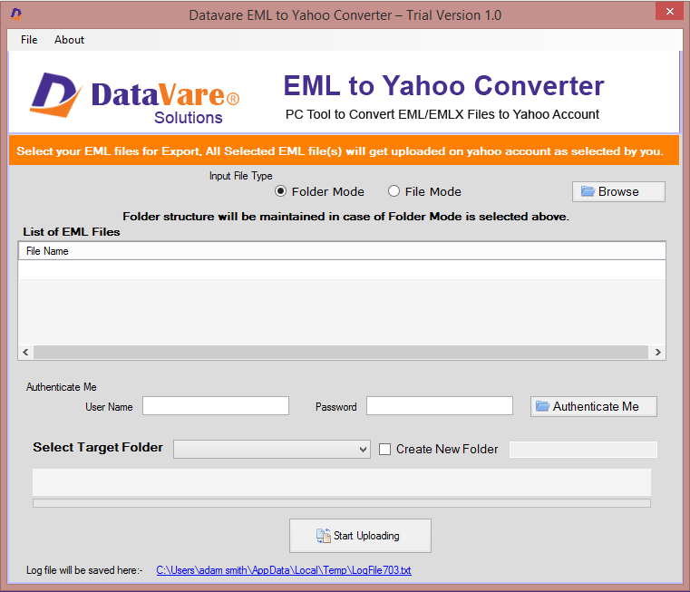Datavare EML to Yahoo Converter