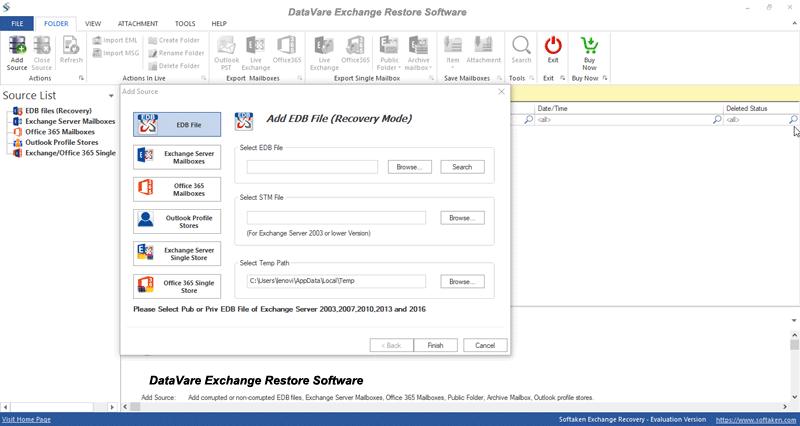 exchange restore software, edb restore, exchange server, edb restore tool