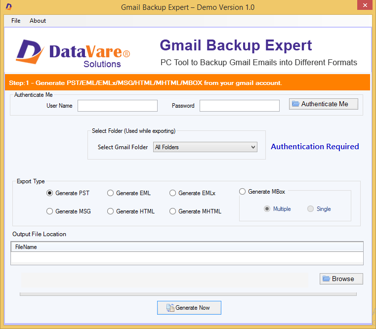 Windows 7 DataVare Gmail Backup Expert 1.0 full