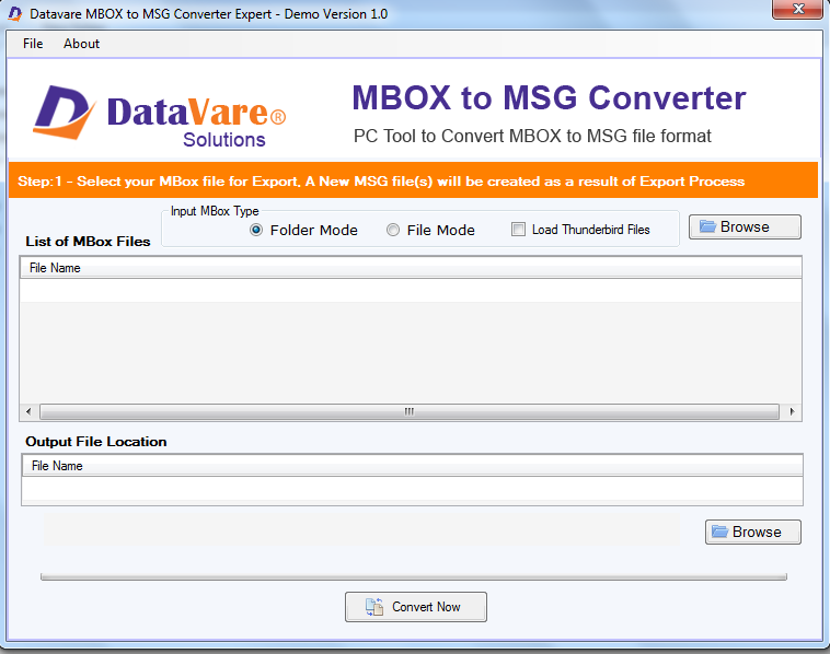 Windows 7 DataVare MBOX to MSG Converter Expert 1.0 full