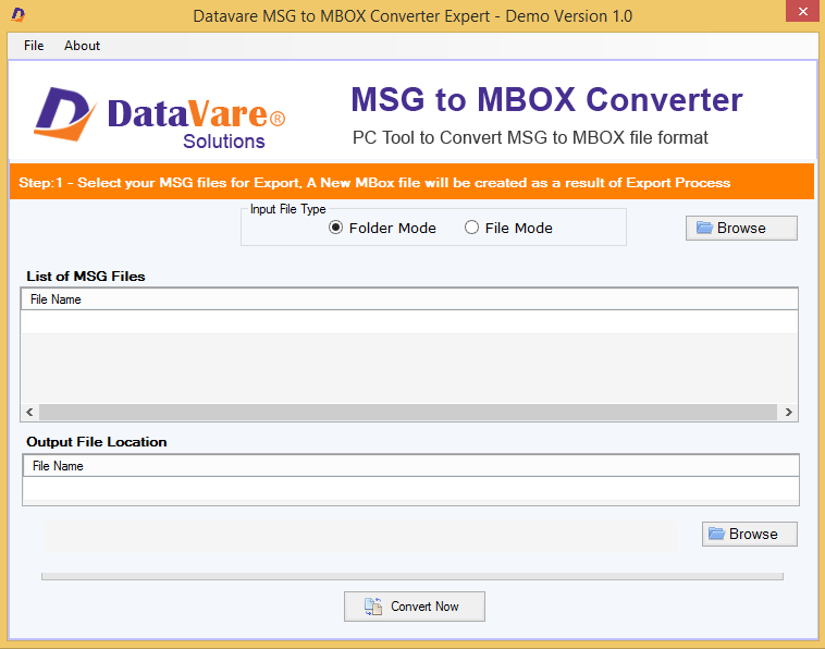 DataVare MSG to MBOX Converter Expert