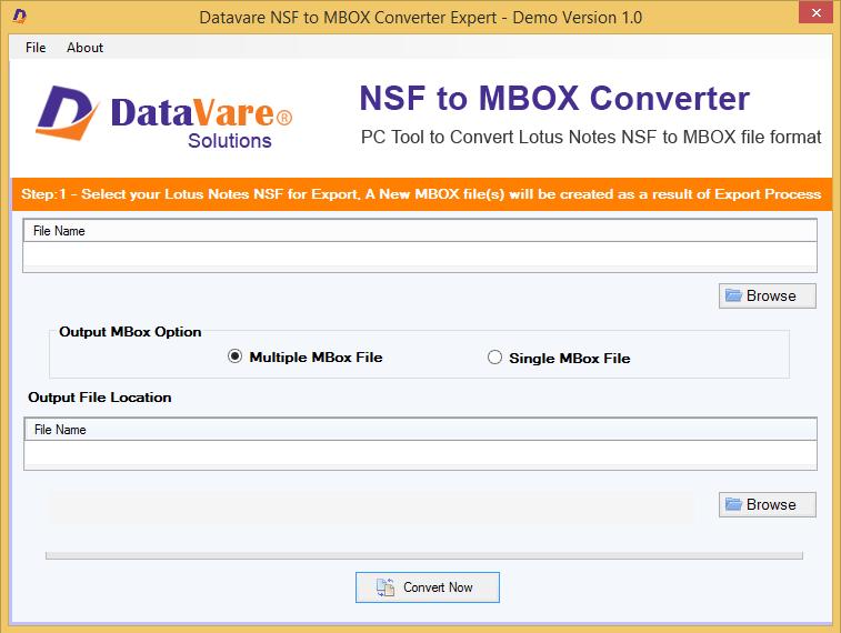 Datavare NSF to MBOX Converter
