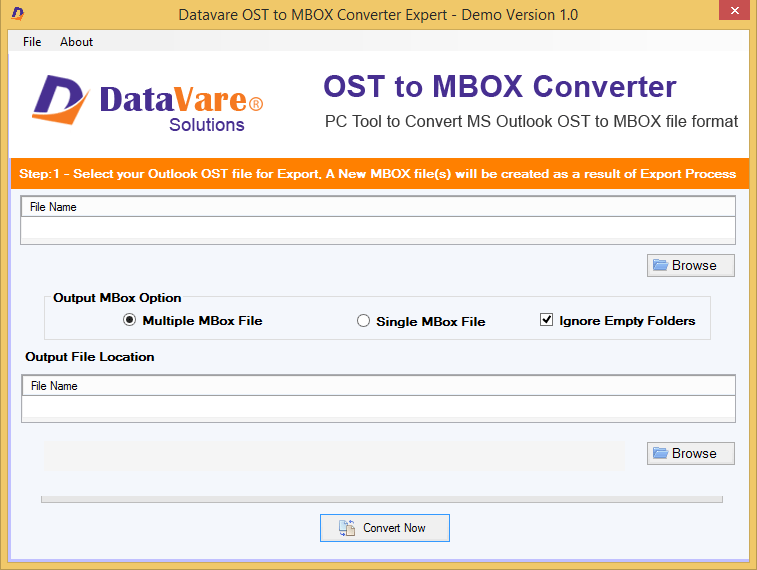 DataVare OST to MBOX Converter Expert