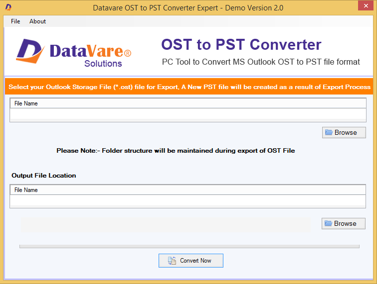 DataVare OST to PST Converter Expert full screenshot