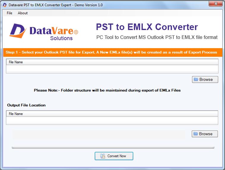 DataVare PST to EMLX Converter Expert