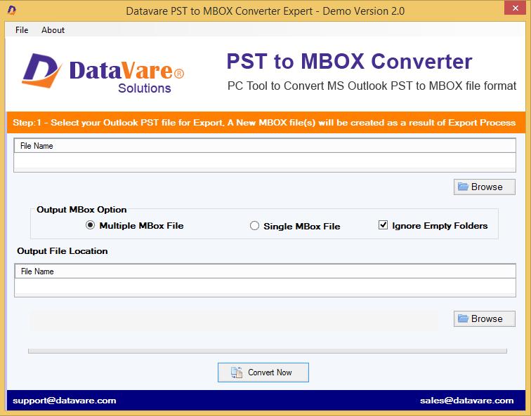 DataVare PST to MBOX Converter Expert