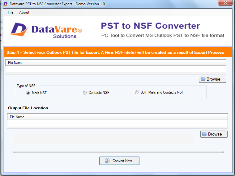 DataVare PST to NSF Converter Tool Download
